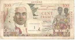 FRENCH ANTILLES P1 1 FRANC 1961 VF - Billets