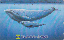 Télécarte Japon - ANIMAL - BALEINE & Son Baleineau - WHALE & Baby Japan Phonecard - WAL Telefonkarte - BE 392 - Dolphins