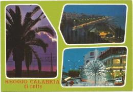 O2404 Reggio Calabria Di Notte - Panorama Vedute Multipla - Notturno Nuit Night Nacht Noche / Non Viaggiata - Italia