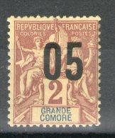N° 20*_surcharge Déplacée_défaut De Gomme Sur Bord - Great Comoro Island (1897-1912)
