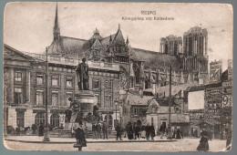 1853 - Sans Frais De Port - Carte Postale Ancienne - Cathédrale De Reims Königsplatz War Memorial Carte - Reims
