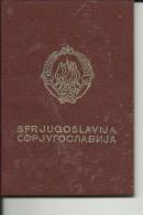 S. F. R.  YUGOSLAVIA  ---    PASSPORT  --  1970 - Historische Dokumente