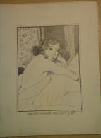 Dessin Au Crayon-Illustrateur -Françoise Arnoul, Pseudonyme De Françoise Gautsch, Est Une Actrice Française (3) - Dessins