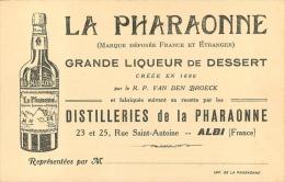 CARTE PUBLICITAIRE  LA PHARAONNE GRANDE LIQUEUR DE DESSERT - Pubblicitari