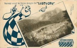 CARTE PUBLICITAIRE  LUSTUCRU  LA GRANDE CHARTREUSE PHOTO ODDOUX - Pubblicitari