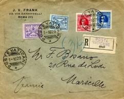 POSTE VATICANE Recommandé Du 1.10.1929 Pour Marseille       ....G - Vatican