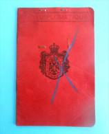 DIPLOMATIC PASSPORT - SERBIAN KINGDOM  * Passeport Diplomatique * Diplomatenpaß Reisepass Pass Passaporto Diplomatico RR - Historical Documents