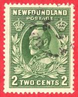 Canada Newfoundland # 186 - 2 Cents - O F - Dated  1932-37 - King George V / Roi George V - Neufundland