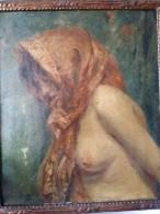 Jacques BAUGNIES (1874-1925) - Jeune Fille Au Foulard - Circa 1900 - Oils