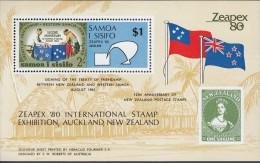 SAMOA, 1980 ZEAPEX MINISHEET MNH - Samoa