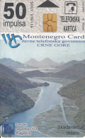 MONTENEGRO - Skadarsko Jezero, Bokokotorski Zaliv, First Issue 50 Unts, CN : 5007, Tirage 10000, 03/00, Used - Montenegro