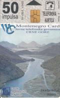 MONTENEGRO - Skadarsko Jezero, Bokokotorski Zaliv, First Issue 50 Unts, CN : 5007, Tirage 10000, 03/00, Used