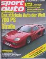 SPORT AUTO - N.4 APRILE 1986 - FERRARI TESTAROSSA KOENIGG - Automobili & Trasporti