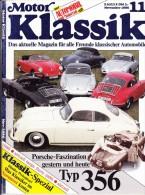 MOTOR KLASSIK - N.11 NOVEMBER 1986 - PORSCHE 356 - Automobili & Trasporti