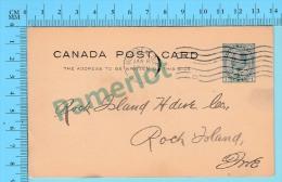 1973 -Avis Carte Postale Commercial -Munderloh & Co. Montreal -> Rock Island Quebec Canada - 1903-1954 Reyes