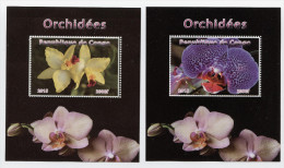 ORCHIDS,FLOWERS On 2 X SOUVENIR STAMP SHEETS,MNH,Mint,#BA48 - Orquideas