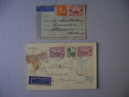 2 LETTERS OF Circulated INDIAS NETHERLANDS TO NETHERLANDS AS - Nederlands-Indië