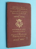Ministerie Van ARBEID / TRAVAIL Service SOCIAL Rongé Juul Arbeidscontroleur 1941 Brussel ( Zie Foto´s Voor Details ) ! - Autres Collections