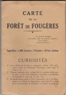 35---ille Et Vilaine----CARTE DE LA FORET DE FOUGERES--forêt Domaniale--plan Général--voir 2 Scans - Cartes