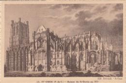 Cp , 62 , SAINT-OMER , Ruines De Saint-Bertin En 1820 - Saint Omer