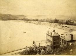 United Kingdom Pays De Galles Llandudno La Plage Panorama Ancienne Photo Bedford 1875 - Ancianas (antes De 1900)
