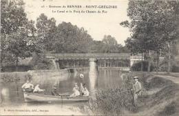 35 ILLE ET VILAINE - SAINT GREGOIRE Le Canal Et Le Pont Du Chemin De Fer - France