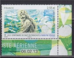 Centenaire Du Saut En Parachute D´Adolphe Pégoud En 1913, PA 2.55€, De Feuillet Daté 06.02.13 Neuf N°PA76a - Dated Corners