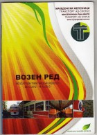 Timetable Booklets In Macedonia,Train,railroad, 32 Pages ( Small Booklet ) - Europe