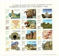 2001 - Spagna 3398/409 Patrimonio Dell'umanità, - UNESCO