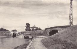Saint Jean De Losne (écluse, Deux Ponts, Une Barge) Circulé 1955, Format CPA - France