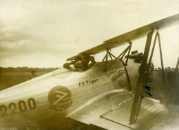 France Aviation Meeting Detroyat Sur L'avion De Fieseler F2 Tiger Ancienne Photo 1933 - Aviation