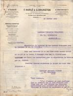 VP3550  - Tabac - Lettre De Mrs F.HARLE & G.BRUNETON Ingénieurs - Conseils à Paris Rue De La Rochefoucauld - Documents