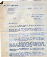 VP3551 - Tabac - Lettre De J.& O.G. PIERSON à PARIS Pour Mr Th. SCHLOESING Directeur Des Manufactures De L´Etat - Documents
