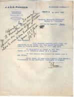 VP3553 - Tabac - Lettre De J.& O.G. PIERSON à PARIS Pour Mr Th. SCHLOESING Directeur Des Manufactures De L´Etat - Documents