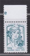 = Marianne Et La Jeunesse Gommée X 1 Lettre Verte -100g, N°4776 Avec Haut De Feuille Ciappa Et Kawena (100g) - 2013-... Marianne De Ciappa-Kawena