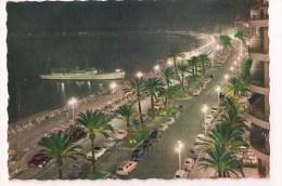 ///  06 NICE : La Nuit - Promenade Des Anglas - Bateau - Négresco - 1959 - Giletta - - Nizza