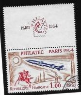 N° 1422  FRANCE  -  OBLITERE  -  EXPO PHILATELIQUE INTERNLE PARIS  -  1964 - Francia