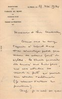 VP3556 - Lettre De La Manufacture Des Tabacs Du MANS  Pour Mr Th. SCHLOESING Directeur Des Manufactures De L´Etat - Documenten