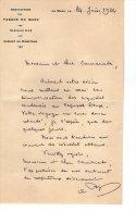 VP3557 - Lettre De La Manufacture Des Tabacs Du MANS  Pour Mr Th. SCHLOESING Directeur Des Manufactures De L´Etat - Documenten