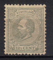 Netherlands,King Willem III 12 1/2 C 1872.,perf. 12 1/2:12,MH