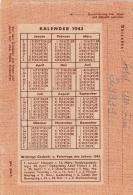 Feldpost WW2: 4. Schwadron Aufklärungs-Abteilung 175  FP 29939 P/m 29.7.1943 - Letter Inside. Calendra For 1943 On Back - Militaria
