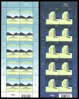 SALE!!! ICELAND 2009 EUROPA CEPT 2 Sheetlets Of 10 Stamps MiNr 1242-43 CV=40€ - 2009