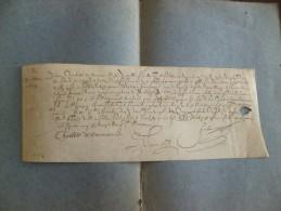 Charlotte De Dormans 1605. Autographe Sur Velin Paris 29 Mars In 4 Obl 1p - Autógrafos