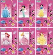 D01346 China Phone Cards Disney 6pcs - Disney