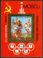 """1980 Guinea Equatoriale """"Mosca 80"""" Olimpiadi Olympic Games Jeux Olympiques Gold Printing Block MNH** Pa182 - Verano 1980: Moscu"""