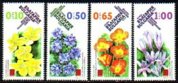 BULGARIA 2015 FLORA Plants MOUNTAIN FLOWERS - Fine Set MNH - Unused Stamps
