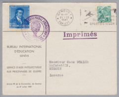 Schweiz Aemter BIÉ D V 1941-02-21 Brief M.Vorläufer Zu# IV - Officials