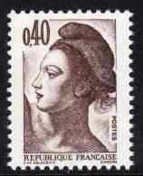 France N° 2183b XX Type Liberté De Gandon   :  40 C. Brun Foncé , Variété  Bande De Phosphore à Gauche  TB - Curiosities: 1980-89 Mint/hinged