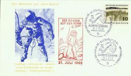 ALLEMAGNE DEUTSCHLAND FDC Der Mensch Auf Dem Mond 21. Juli 1969 Hamburg NASA Apollo 11 - [7] Federal Republic