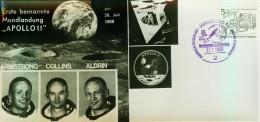 ALLEMAGNE DEUTSCHLAND FDC Der Mensch Auf Dem Mond 21. Juli 1969 Hamburg NASA Apollo 11 Photos - [7] Federal Republic